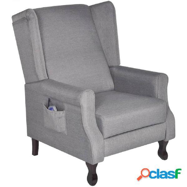 Vidaxl sedia massaggiante grigia in tessuto