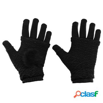 2-in-1 handwarmer and winter touch screen gloves - black