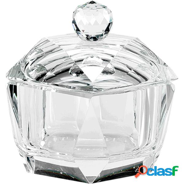 Scatola in cristallo k9 diamante 8,5x8,5xh8 cm in scatola regalo, per uso bomboniera matrimonio comunione cresima