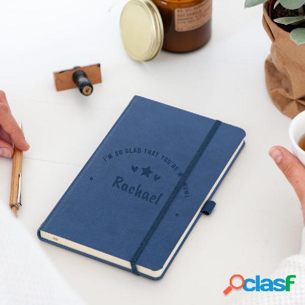 Quaderno della mamma - inciso - blu