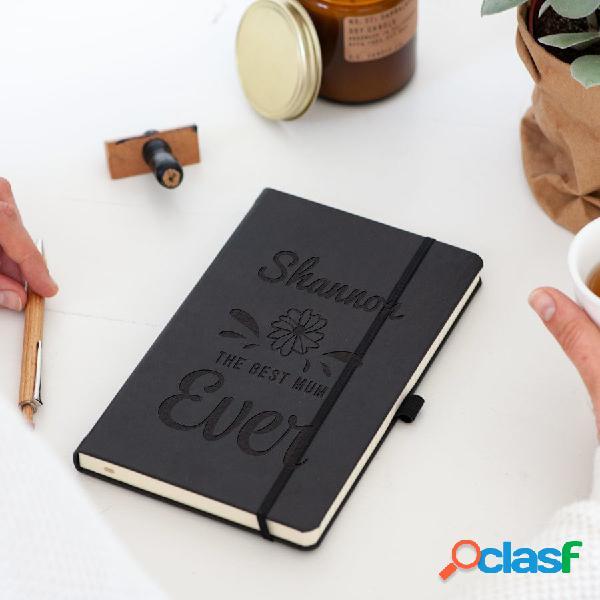 Quaderno della mamma - inciso - nero