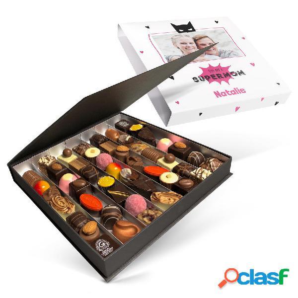 Lussuosa confezione regalo di cioccolatini - festa della mamma - 49 pezzi