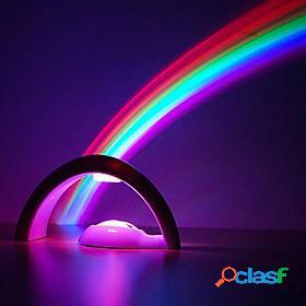 Led night light rainbow projector 3d led projection lamp night scape lighting baby kid bedroom night light for christmas gift birthday sleeping light
