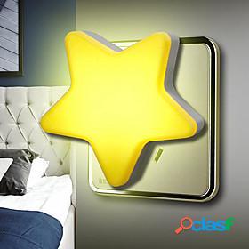 Light sensor control mini star moon led night light for dark night children bedroom bedside lamp eu plug baby sleeping light