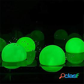 Outdoor rgb outdoor garden glowing ball lights 4pcs 3inch 7.8cm patio landscape pathway led illuminated ball table lawn lamps