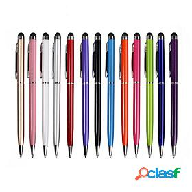 10pcs 2 in 1 touch screen stylus pen ballpoint pen tablet smartphone useful design tablet p for pad smart phone