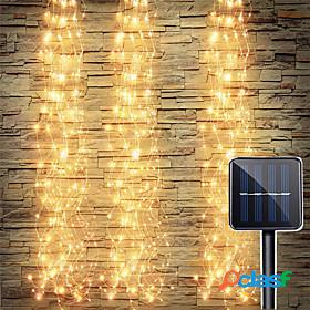 Solar power vines branch led flexible string holiday light waterproof for outdoor garden patio fence tree decor led fairy branch lights xmas new year lighting