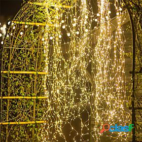 Christmas outdoor waterfall string light 10pcs x 2m 200led vines branch led string fairy light outdoor garden fence tree led string fairy branch light
