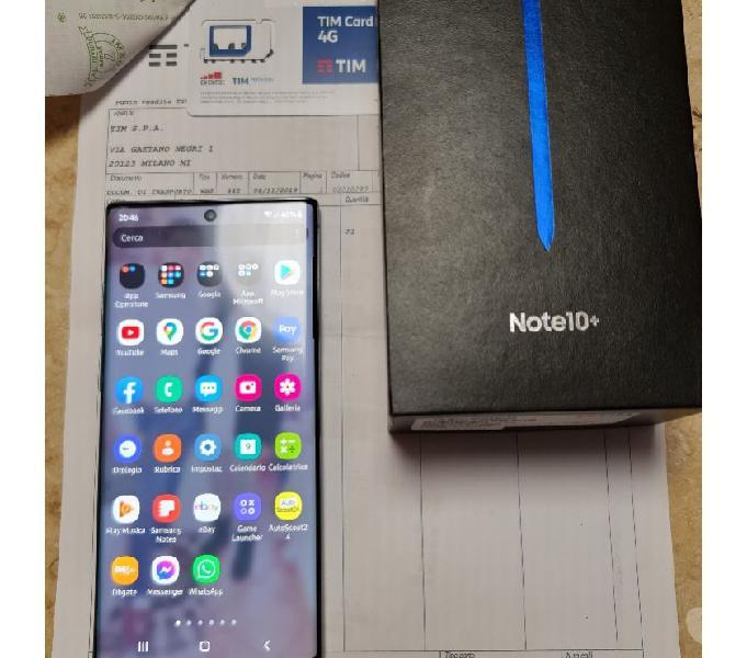 Samsung galaxy note 10 plus + aura glow, 256 gb,garanzia! trento