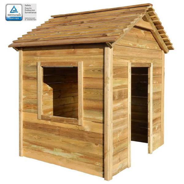 Vidaxl casetta da giardino per bambini 123x120x146 cm legno