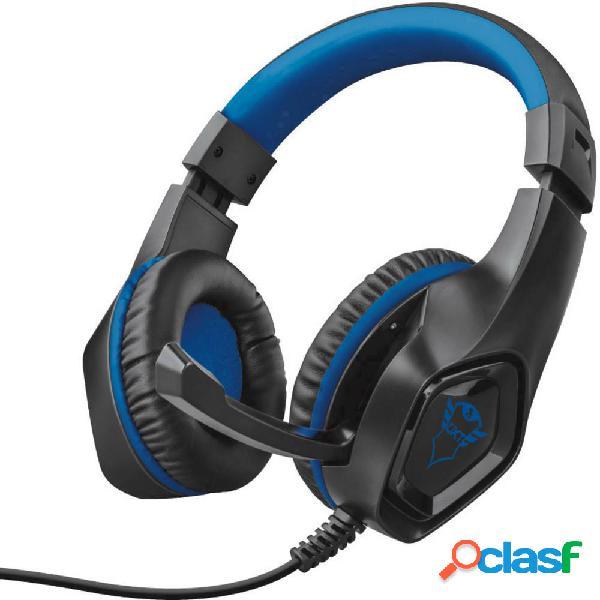 Trust gxt404b rana cuffia headset per gaming jack 3,5 mm filo cuffia over ear nero, blu