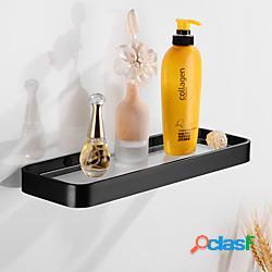 Mensola singola per bagno in alluminio da parete space rack in vetro per bagno 1pz lightinthebox