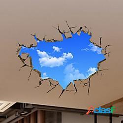 Cartone animato adesivi da parete soggiorno, pre-incolla pvc decorazioni per la casa adesivo lightinthebox