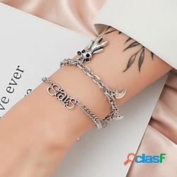 Per donna dell'involucro del braccialetto impilabile orso cartone animato lega gioielli braccialetto argento per da sera graduazione festival lightinthebox