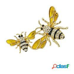 Per donna spille cartone animato innovativo ape donne essenziale di tendenza spilla gioielli oro per quotidiano appuntamento lightinthebox
