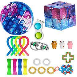 22 pezzi fidget toys set anti stress stringhe elastiche push pop bubble confezione regalo adulti bambini squishy sensoriale antistress sollievo figet toys lightinthebox