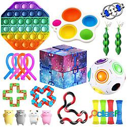 Giocattolo squishy sollievo dallo stress del giocattolo sensoriale agitarsi 22 pezzi mini giocattoli creativi di decompressione per alleviare lo stress e l'ansia plastica a crescita lenta per