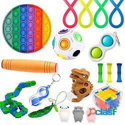 Giocattolo di fidget sensoriale giocattolo squishy antistress 19 pezzi mini giocattoli creativi di decompressione per alleviare lo stress e l'ansia plastica per bambini adulti uomini donne ra