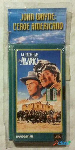 VHS Videocassetta John Wayne: La battaglia di Alamo nuovo con cellophane