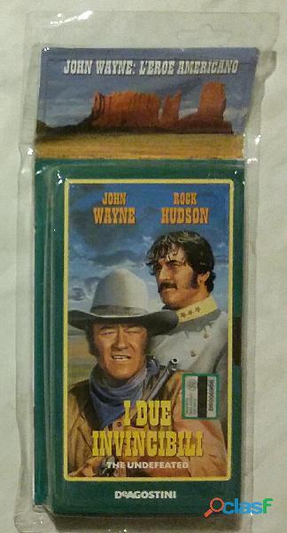 VHS Videocassetta John Wayne/Rock Hudson:I due invincibili nuovo con cellophane