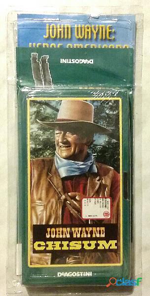 VHS Videocassetta John Wayne: Chisum nuovo con cellophane