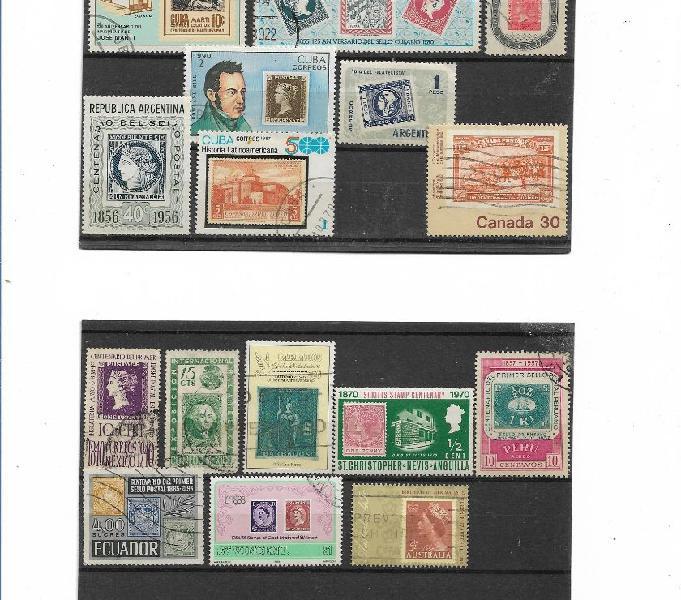 19402000 filatelia tematica stamps on stamps caltanissetta - collezionismo in vendita