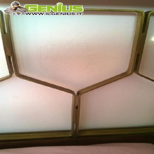 Testiera letto matrimoniale a nido d'ape sormani di ottone