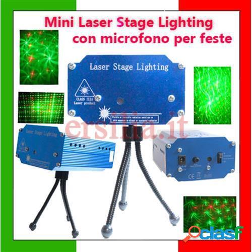 Proiettore laser con micofono per effetto luce per discoteche e feste