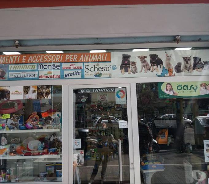 Cedesi attività pet shop negozio cibo accessori animali roma