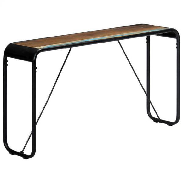 Vidaxl tavolo consolle 140x35x76 cm in legno massello di