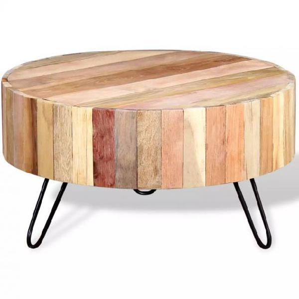 Vidaxl tavolino da caffè in legno massello recuperato