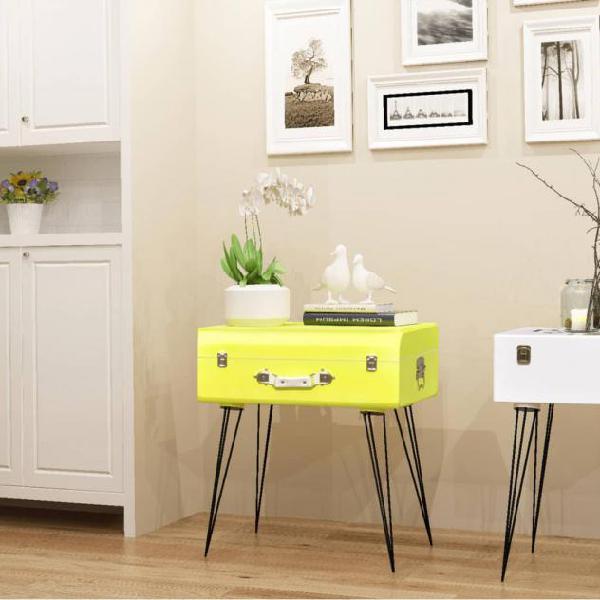 Vidaxl mobiletto 49,5x36x60 cm giallo