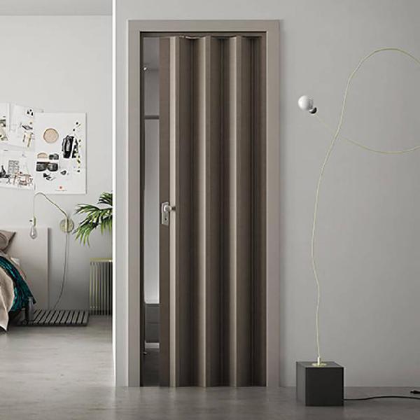 Porta a soffietto da interno 88,5x214 cm in pvc saba