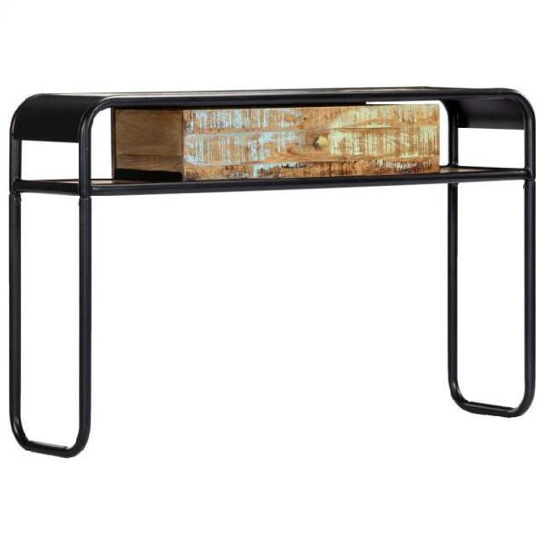Vidaxl tavolo consolle 118x30x75 cm in legno massello di