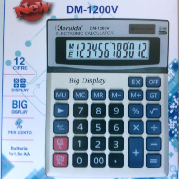 Calcolatrice elettronica digitale 12 cifre grandi dimensioni