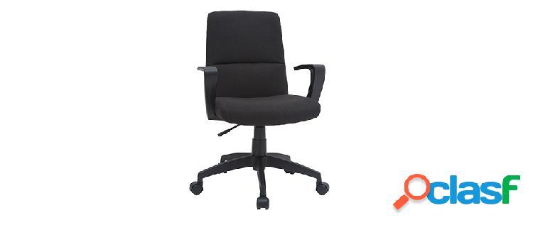 Sedia da ufficio di design in tessuto nero chuck