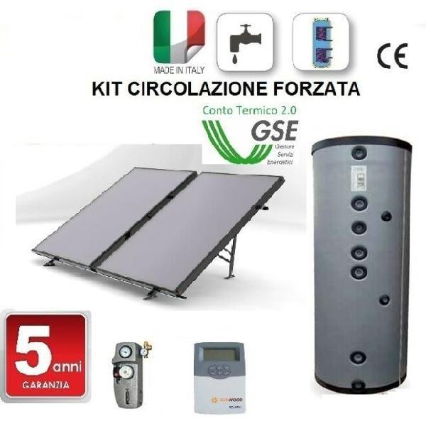 Solare termico sunwood per acqua calda sanitaria