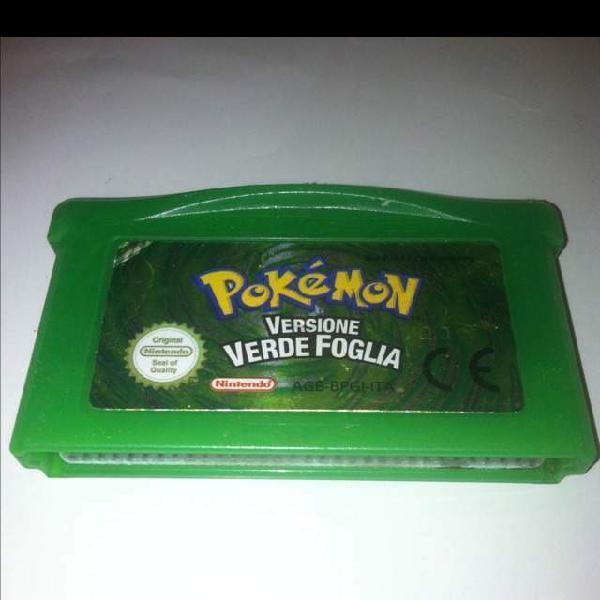 Pokemon verde foglia game boy advance italiano