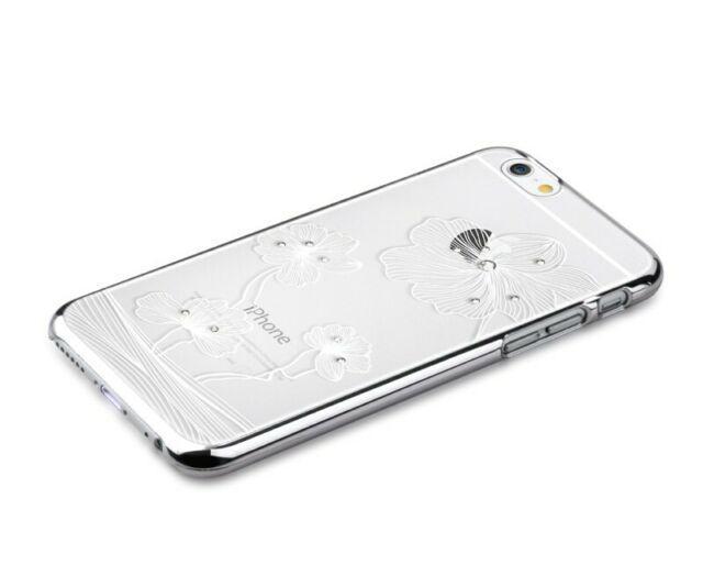 Custodia Swarovski per iPhone 6/6S Plus Crystal Flora Silver