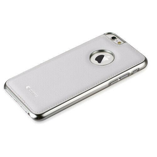 Custodia in Pelle Vista Logo per iPhone 6S/6 Plus Bianca