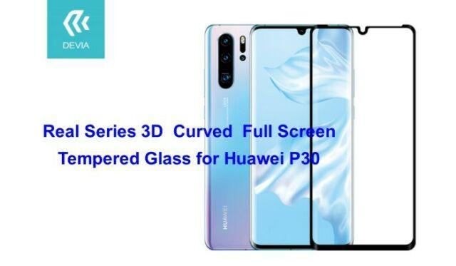 Pellicola in Vetro Temperato Full Screen 3D Huawei P30 Nera