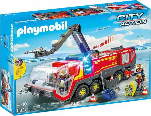 Playmobil city action 5337 mezzo antincendio dell'aeroporto