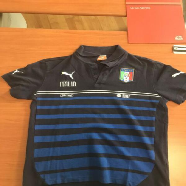 Polo Italia puma con sponsor taglia m da magazzino