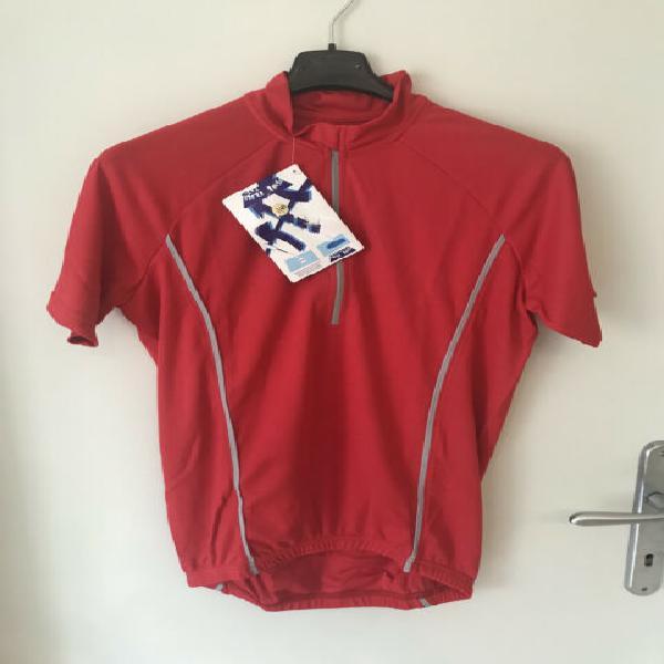 T-shirt Ciclismo rossa mezza zip SUPERDRYNTEX