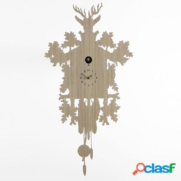 Orologio cucu legno chiaro betulla diamantini domeniconi h 88x45x9.5