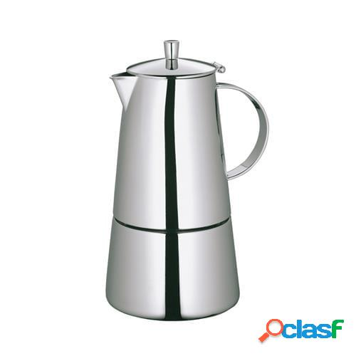 Caffettiera espressp treviso lucida per 6 tazze per induzione
