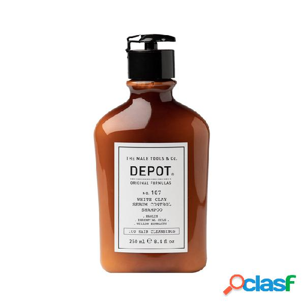 DEPOT 100 Hair Cleansings NO.107 White Clay Sebum Control Shampoo 250 ml