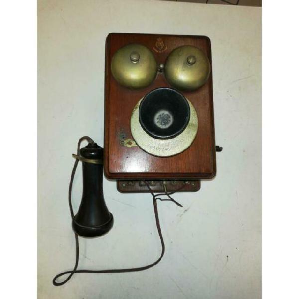 Telefono epoca kellogg legno collezione