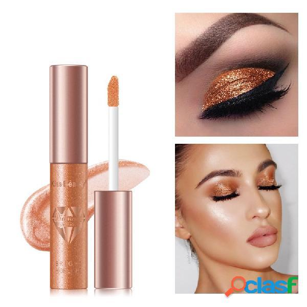 6 colori liquid eye shadow diamond pearlescent color waterproof eyeshadow liquid brillare eye trucco