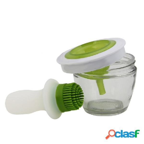 Handy kitchen tool grill set di spazzole per olio set di strumenti in silicone cuocere bbq honey oil brush